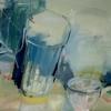Wasserglas im Spiegel